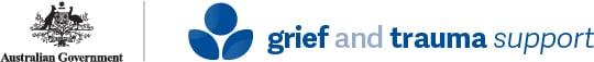 Australian Government Grief and Trauma Support logo